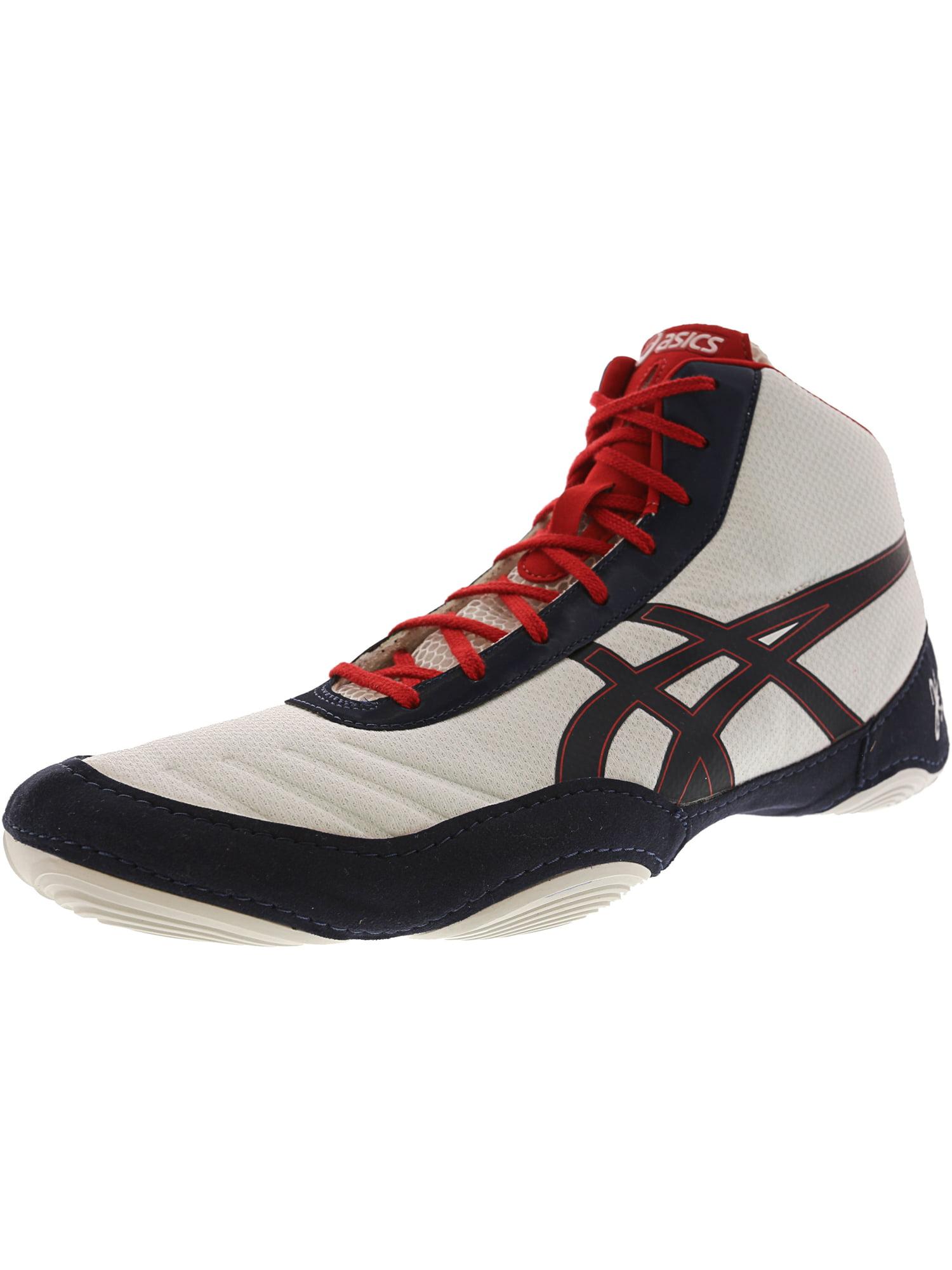 Asics Men's Jb Elite V2.0 Black / Olympic Gold Red Ankle-High Fabric Wrestling Shoe - 12.5M