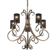 Justice Design Group  Victoria 5-light Chandelier, Brushed Nickel