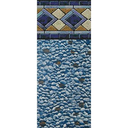 Round Mosaic Diamond Unibead Above Ground Swimming Pool Liner - 52