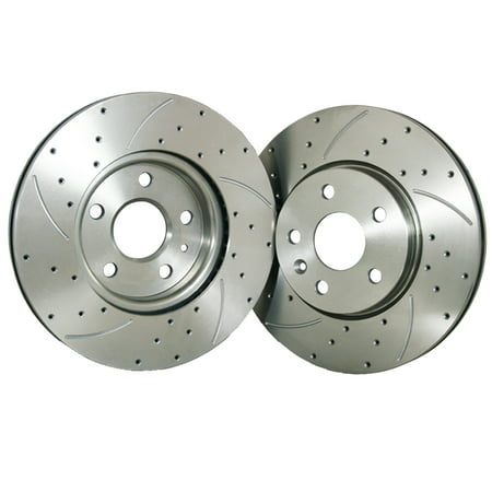 88 Brake Rotors - FLPX Rear Proformance Drilled Slotted Brake Rotor Fit Chrysler New Yorker 88 - 90