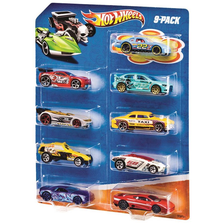 Hot Wheels 9-pack (styles may vary)