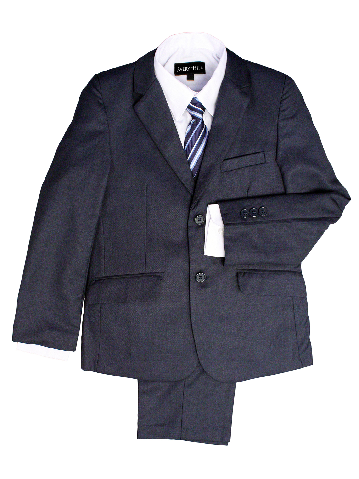 Avery Hill Boys Formal 5 Piece Suit With Shirt, Vest, and Tie