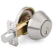 Mountain Security Single Cylinder Deadbolt, Stainless Steel