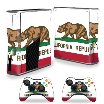 MightySkins Skin Compatible With Microsoft Xbox 360 S Slim + 2 Controller skins wrap sticker skins Beat Bot ()