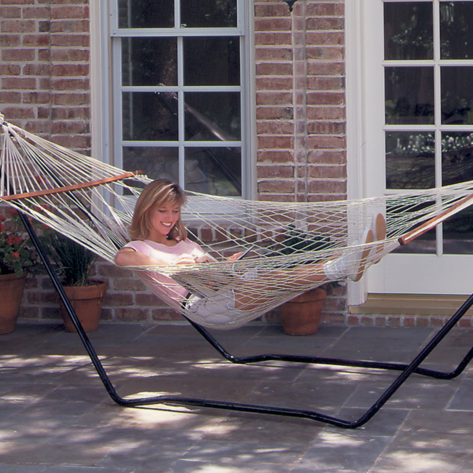Texsport High Island Rope Hammock with Steel Stand