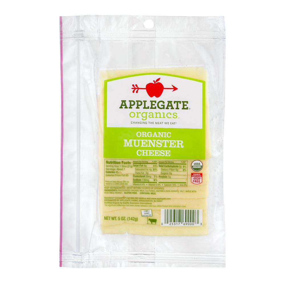 Applegate Organics Organic Muenster Cheese, 5.0 OZ