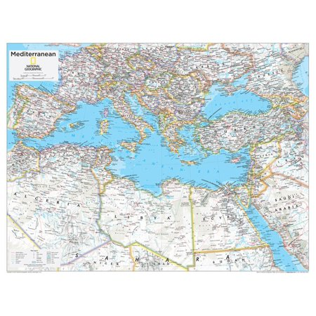 2014 Mediterranean Region - National Geographic Atlas of the World, 10th Edition Print Wall Art By National Geographic Maps