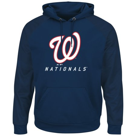 "Washington Nationals Majestic MLB ""Armor 2"" Mens Pullover Hooded Sweatshirt by"