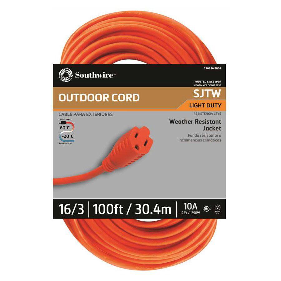 3 Vinyl Outdoor Extension Cord Green