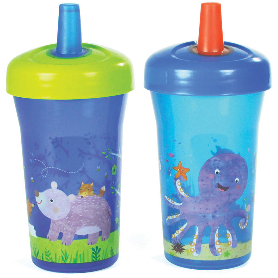 The First Years Simple Straw Cup with One Piece Lid, BPA-Free - 9oz, 2 pack (Choose Your Color)