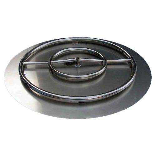 30 in. Fire Pit Ring Burner with Pan NG Connection Kit