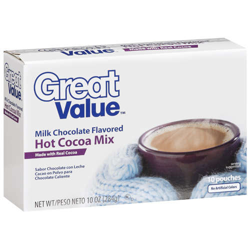 Great Value: Milk Chocolate Flavored Hot Cocoa Mix, 10 oz