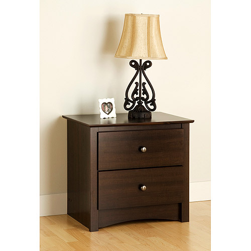 Edenvale 2-Drawer Nightstand, Espresso Prepac Furniture by Prepac