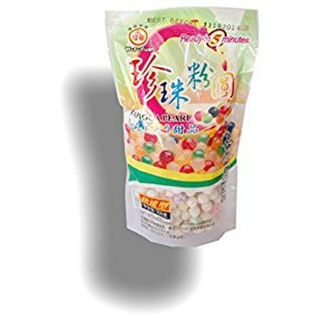 Multi color Tapioca Pearl Gluten Free for Gourmet Boba Bubble Tea 250g/8.8 oz (Multi-colored) - Bubble Team