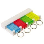 Lucky Line Four (4) Key Tag Identifiers Hanging Rack, Key Organizer Multi Color (60540)