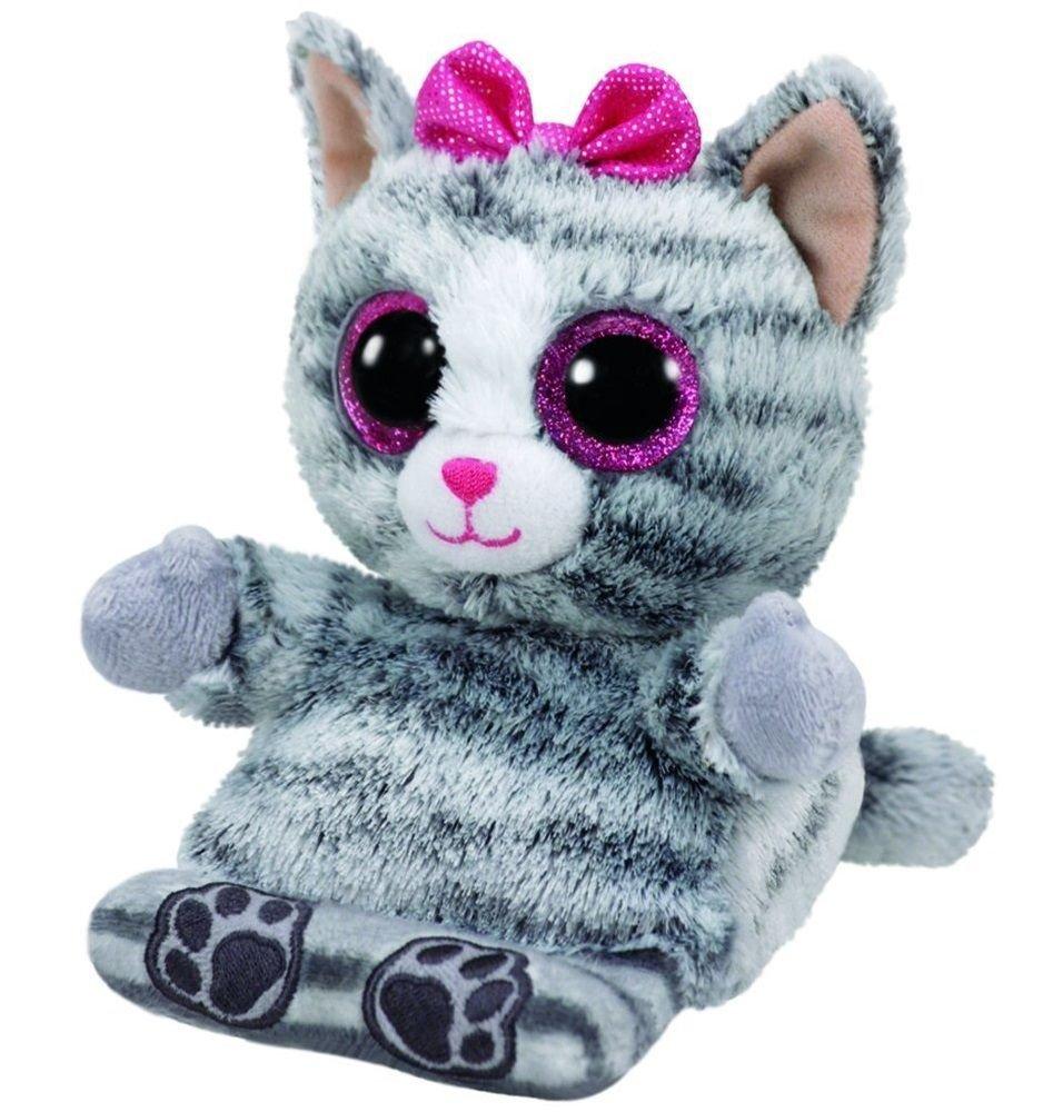 Molly Grey Cat Phone Holder Stuffed Animal By Ty Ph016 Walmart Com