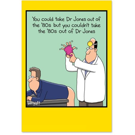 4473 Humorous Birthday Card Dr Jones Get Well With Envelope By NobleWorks