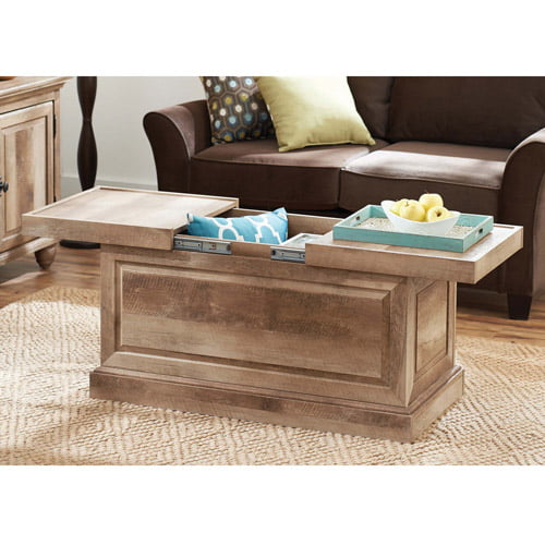 Better Homes and Gardens Crossmill Collection Coffee Table, Weathered Finish by Sauder Woodworking