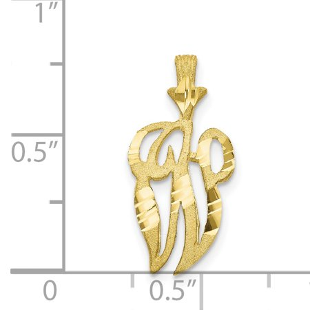 10K Yellow Gold Initial W Charm - image 2 of 3
