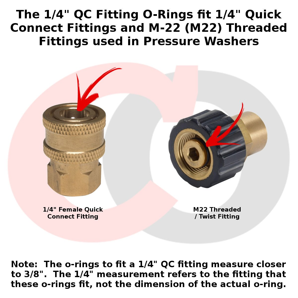 """EPDM 10 pack Power Pressure Washer O-Rings for 3//8/"""" Quick Coupler"""