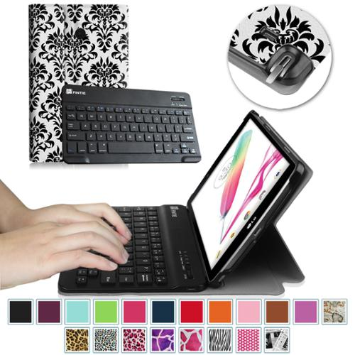 LG G Pad F 8.0 V495 / V496 / UK495 Keyboard Case - Fintie Smart Shell Cover with Wireless Bluetooth Keyboard, Versailles
