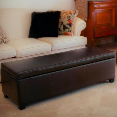 Prime Silverton Brown Leather Storage Ottoman Caraccident5 Cool Chair Designs And Ideas Caraccident5Info