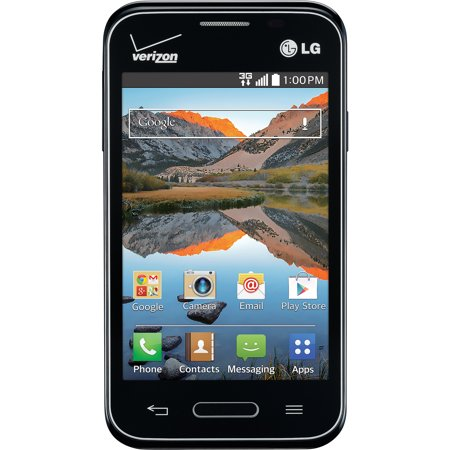 Verizon Lg Optimus Zone 2 4Gb Prepaid Smartphone  Black