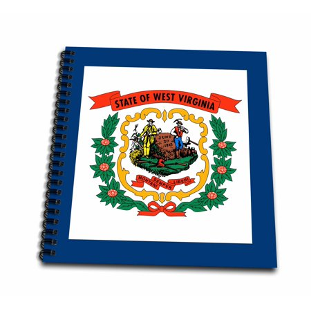 12' Supply Arm - 3dRose Flag of West Virginia WV - US American United State of America USA. Farmer miner coat of arms wreath - Memory Book, 12 by 12-inch