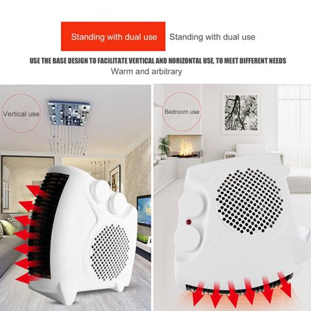 OUTAD Portable Electric Heater Bathroom Warm Air Blower Fan Home Heater 200W-500