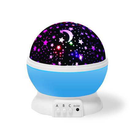Baby Night Light  Star Light Rotating Projector  Color Changing 4 Led Bulbs 8 Modes Unique Gifts For Kids