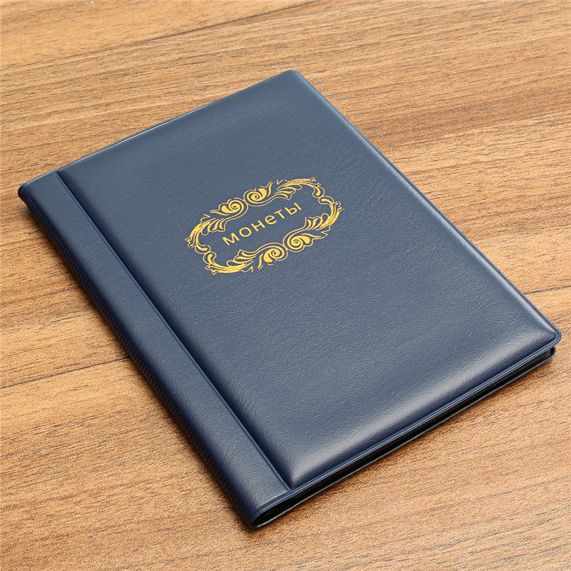120 Coins Album Pockets Book 3 Colors for Money Penny Collection Storage Collectors Collecting Holder Folder