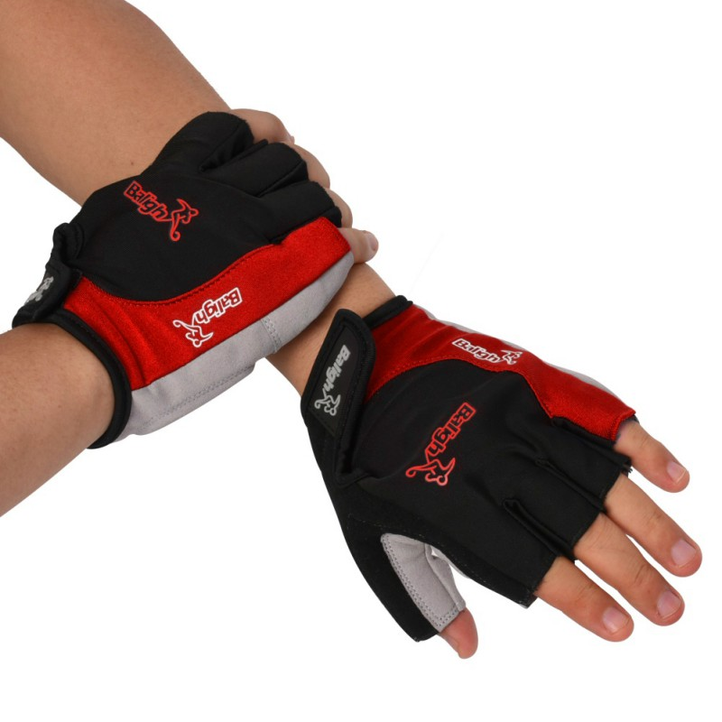 Accessories Non slip Palm Half Finger Mittens Bicycle Gloves Riding Hand Gloves