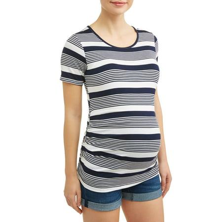 Maternity Auto Stripe Tee - Pregnancy Halloween Shirt