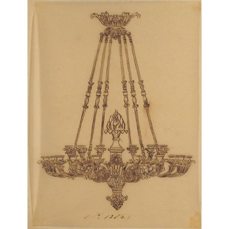 Design for a Chandelier Poster Print by Anonymous French 19th century (18 x 24)