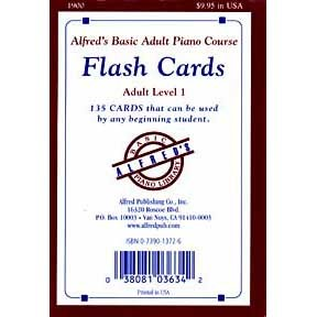 Alfred Basic Adult Piano Course Flash Cards: Adult Level 1
