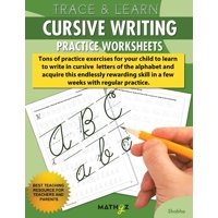Trace & Learn - Cursive Writing: Practice Worksheets (Paperback)