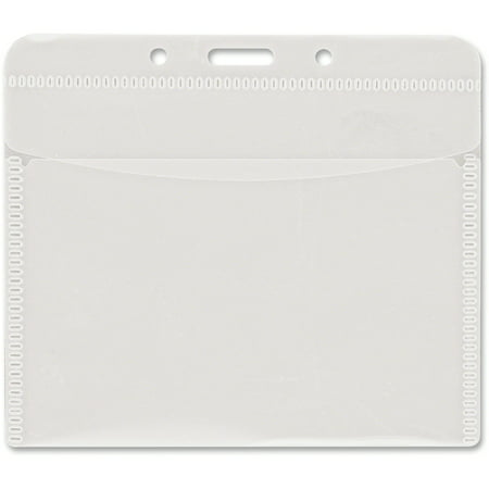 Advantus PVC-Free Badge Holders, Horizontal, 4