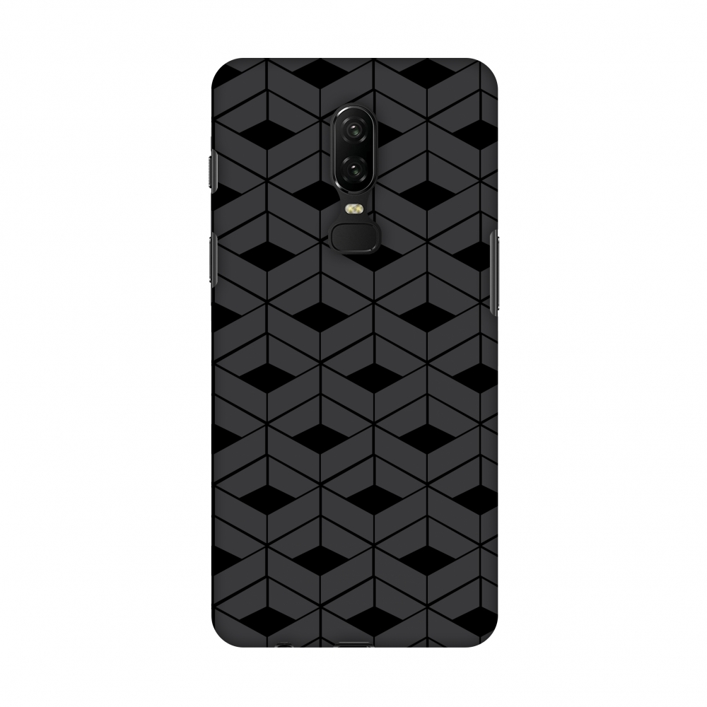 OnePlus 6 Case - Carbon Fibre Redux 9, Hard Plastic Back Cover, Slim Profile Cute Printed Designer Snap on Case with Screen Cleaning Kit