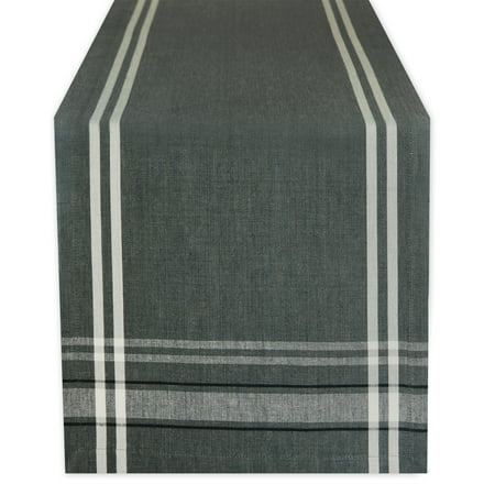 DII Gray French Chambray Table Runner, 72 x 14