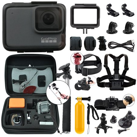 GoPro HERO7 Silver 10 MP Waterproof 4K Camera Camcorder + Complete Action