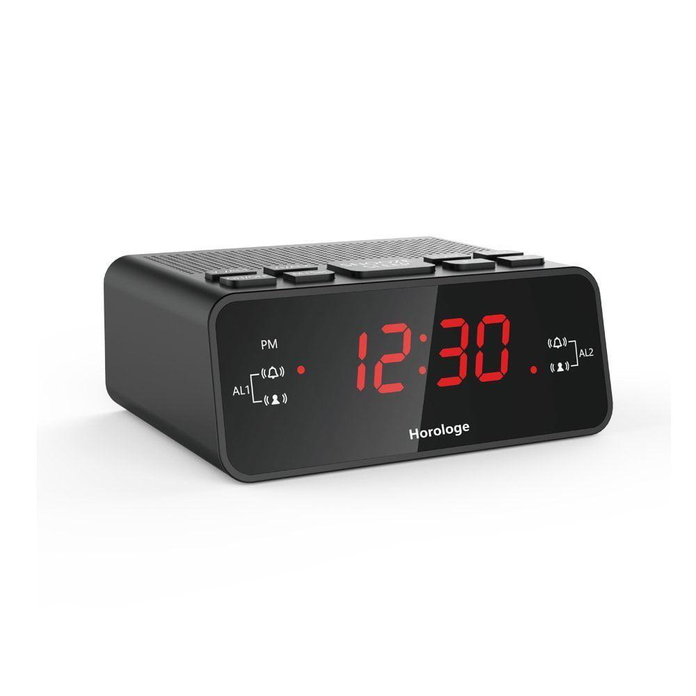 Horologe Alarm Clock Radio with Dual Alarms_ AM_FM Radio_...