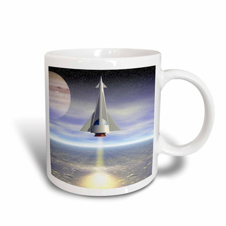 - 3dRose Rocket Launch space travel to distant planets in this modern space craft, Ceramic Mug, 11-ounce
