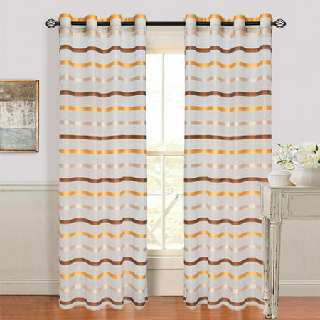 Arla Sheer Grommet Style Curtain Panel by Somerset