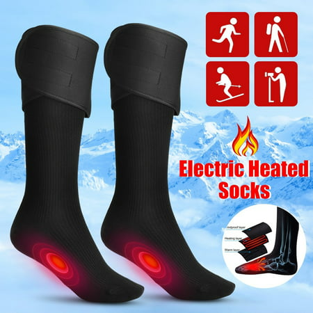 Winter Cycling Socks - Electric Charging Battery Heated Cotton Socks Feet Thermal Winter Warmer Foot Sock for Cycling Skiing Unisex Motorcycle Accessories