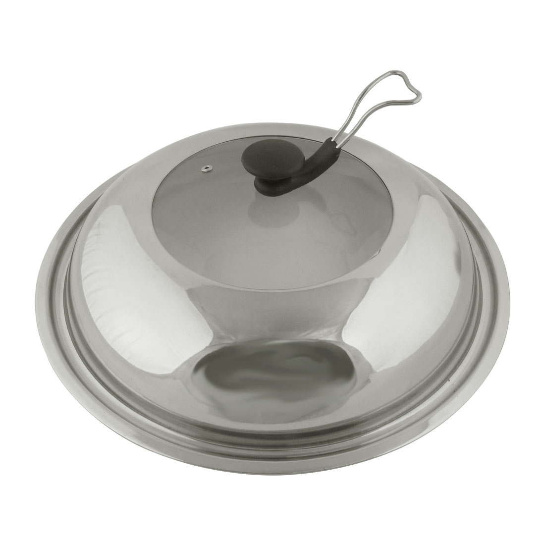 Unique Bargains Restaurant Stainless Steel Kitchenware Cooker Pot Frying Pan Lid Cover 40cm Dia