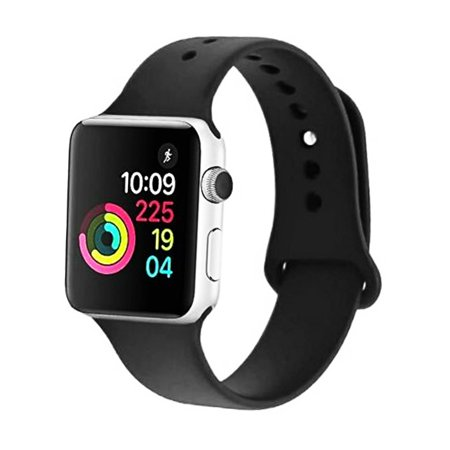 Apple Watch Silicone Sport Band Strap Replacement Series 4 3 2 1 38/40mm 42/44mm (Replacement Watch Strap)