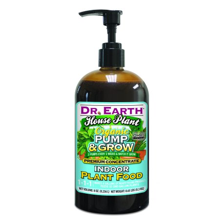 Dr. Earth Organic & Natural Pump & Grow House Plant Indoor Plant Food, 8 (The First Habitat For Plants On Earth Was)