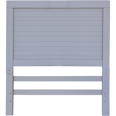Timeless Grey Wooden Twin Headboard and Mounting Hardware. Classic Panel Design Great for Boys