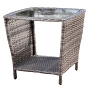 Outdoor Side Table in Grey