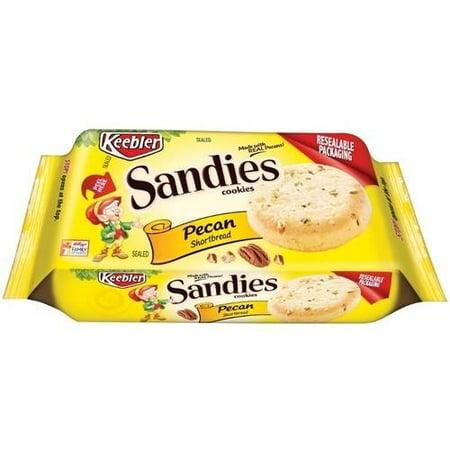 (2 Pack) Keebler Sandies Shortbread Cookies, Pecan, 11.3 Oz - Shortbread Halloween Cookies Finger